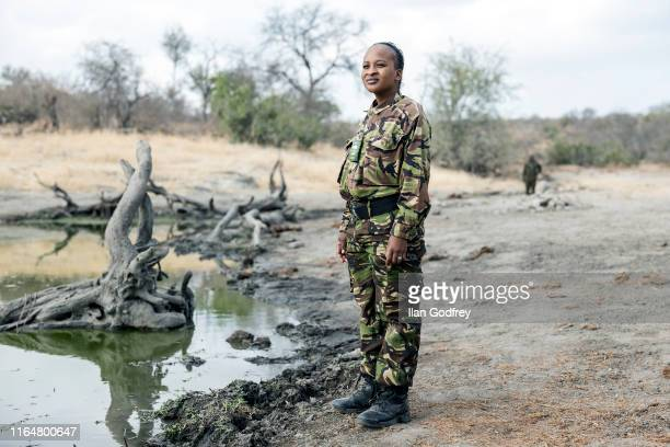 Felicia Letang 31yrs is one of the longest standing Black Mambas Felecia has dedicated the last six years to the ongoing protection of wildlife...