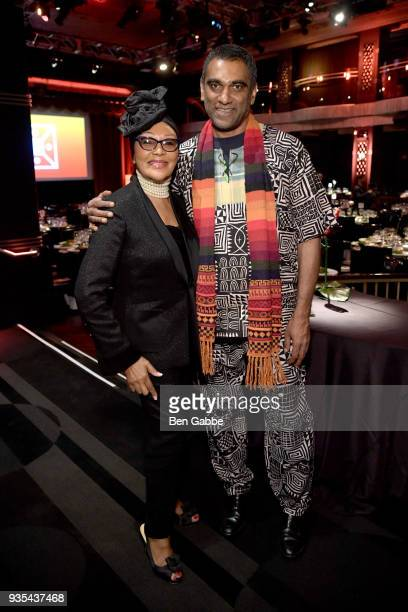 Felicia MabuzaSuttle and incoming Amnesty International SecretaryGeneral Kumi Naidoo attend the Shared Interest 2018 Annual Spring Benefit at the...