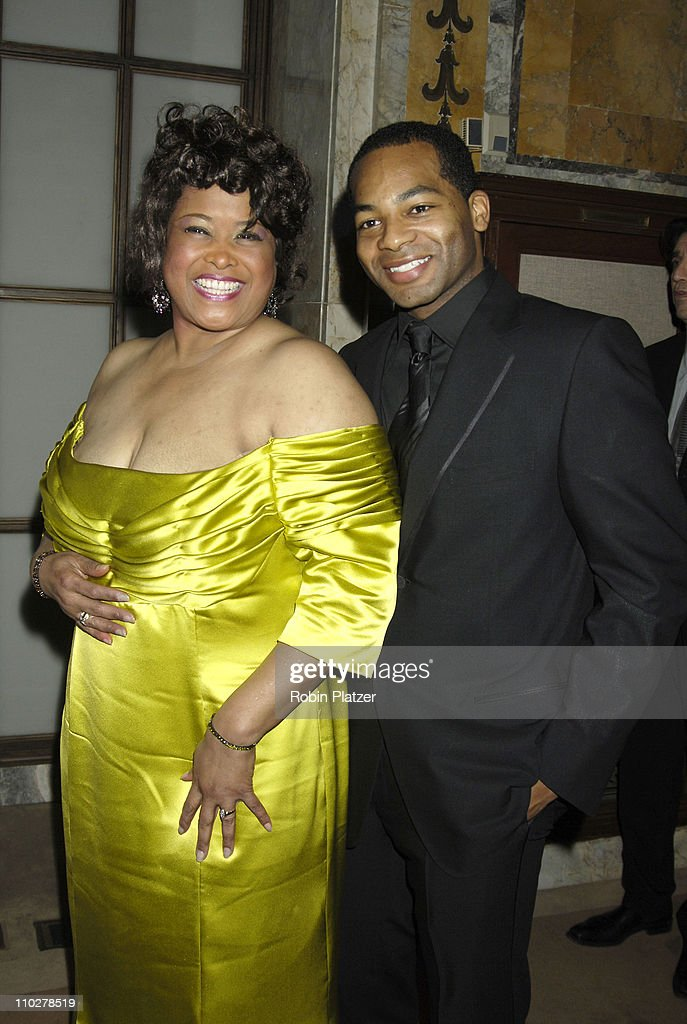Felicia P Fields and Brandon Victor Dixon during 'The Color Purple' Broadway Opening Night - After Party at The New York Public Library in New York City, New York, United States.