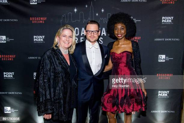 Felicia Taylor Adam Sansiveri and Mariama Camara attend the10th Annual Broadway Dreams Supper at The Plaza Hotel on December 12 2017 in New York City