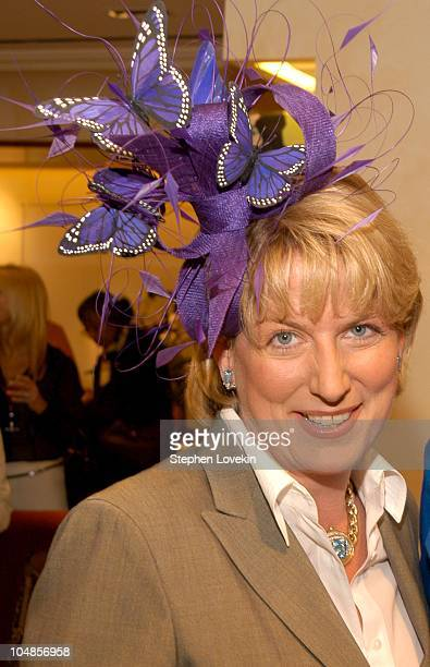 Felicia Taylor in a Philip Treacy hat during Philip Treacy Shows His Spring 2003 Hat Collection at Bergdorf's at Bergdorf Goodman in New York City,...