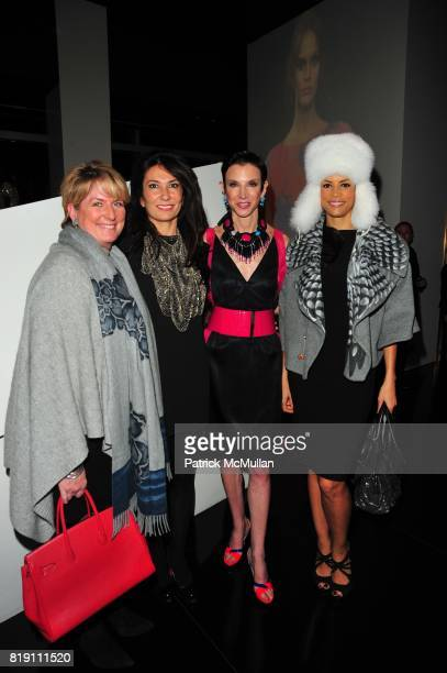 Felicia Taylor Nazee Moinian Amy Fine Collins and Veronica Webb attend ARMANI Red Carpet Retrospective hosted by Amy Fine Collins in partnership with...