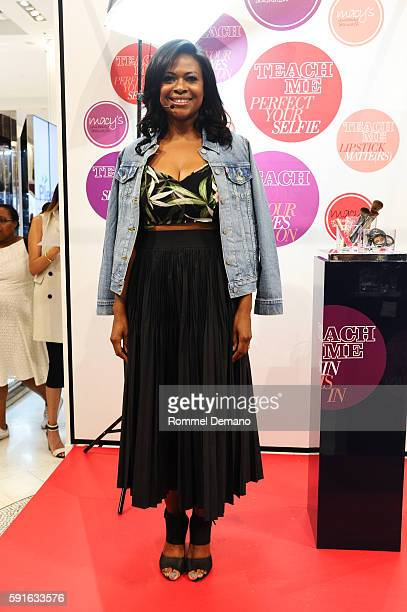 "Felicia Walker Benson attends Macy's ""Teach Me"" cosmetic event with blogger Felicia Walker Benson at Macy's Herald Square on August 17, 2016 in New..."