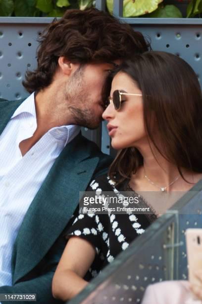 Feliciando Lopez and Sandra Gago attend Mutua Madrid Open at La Caja Magica on May 07 2019 in Madrid Spain