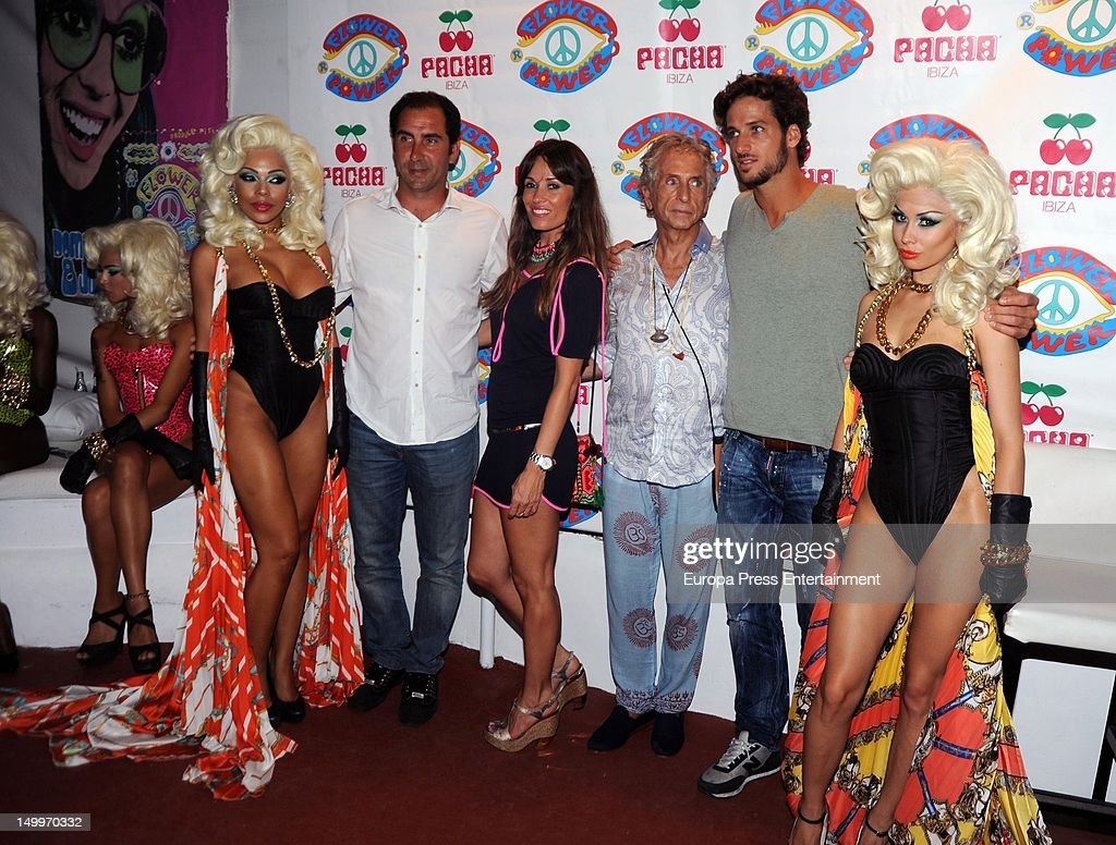 Feliciano Lopez and Carlos Martorell attend 'Flower Power' Party 2012 at Pacha Club on August 7, 2012 in Ibiza, Spain.