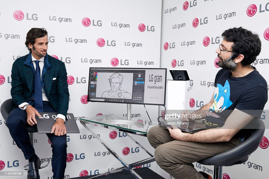 ESP: Feliciano Lopez Presents LG Gram In Madrid