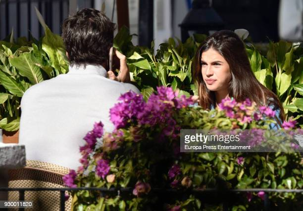 Feliciano Lopez and Sandra Gago are seen on February 5 2018 in Marbella Spain