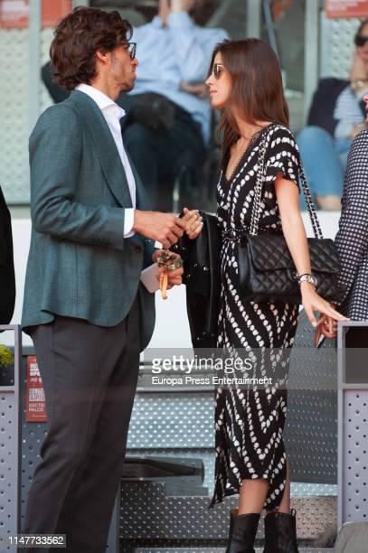 Feliciano Lopez and Sandra Gago attend Mutua Madrid Open at La Caja Magica on May 07 2019 in Madrid Spain