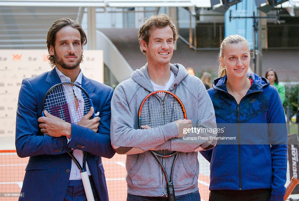 ¿Cuánto mide Andy Murray? - Altura - Real height Feliciano-lopez-andy-murray-and-petra-kvitova-attends-the-launch-of-picture-id526168654