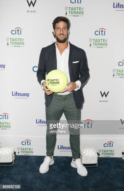 Feliciano Lopez arrives at the Citi Taste Of Tennis Miami at W Hotel on March 20 2017 in Miami Florida