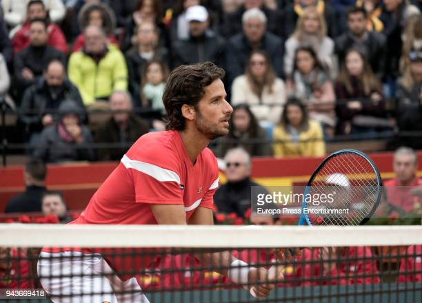Feliciano Lopez attends a match during day one of the Davis Cup World Group Quarter Finals match between Spain and Germany at Plaza de Toros de...