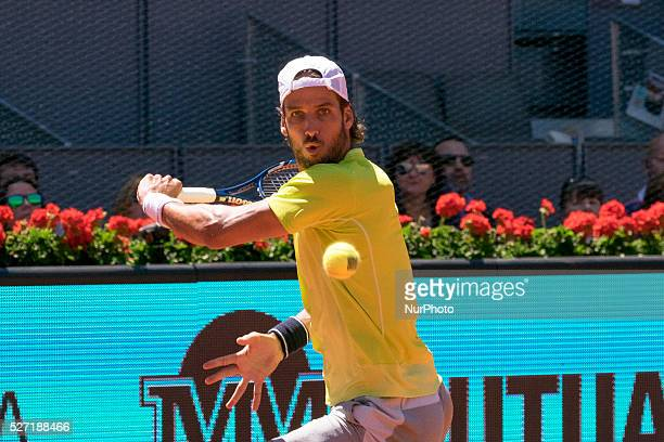 Feliciano Lopez of Spain during day three of the Mutua Madrid Open tennis tournament at the Caja Magica on May 02 2016 in MadridSpain