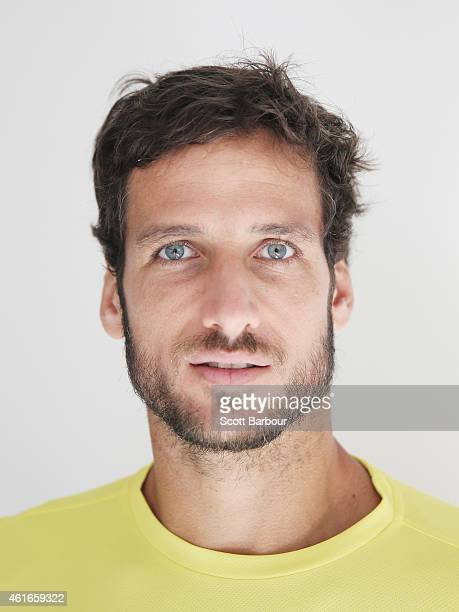 Feliciano Lopez of Spain poses during the ellesse Tennis Performance Apparel Launch on January 17 2014 in Melbourne Australia The new range of tennis...