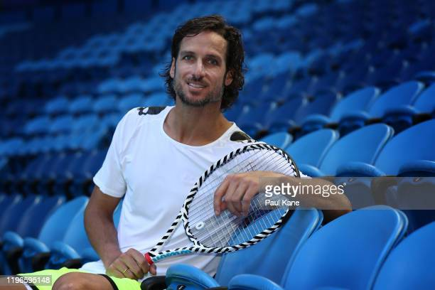 Feliciano Lopez of Spain poses following a practice session ahead of the 2020 ATP Cup Group Stage at RAC Arena on December 30 2019 in Perth Australia