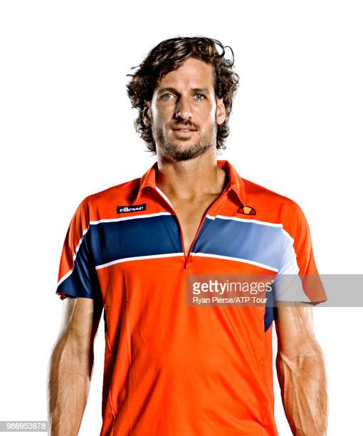 Feliciano Lopez of Spain poses for portraits during the Australian Open at Melbourne Park on January 14 2018 in Melbourne Australia