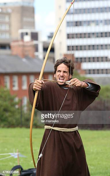 Feliciano Lopez of Spain takes part in a photocall at Nottingham Castle during day one of the ATP Aegon Open at Nottingham Tennis Centre on June 21...