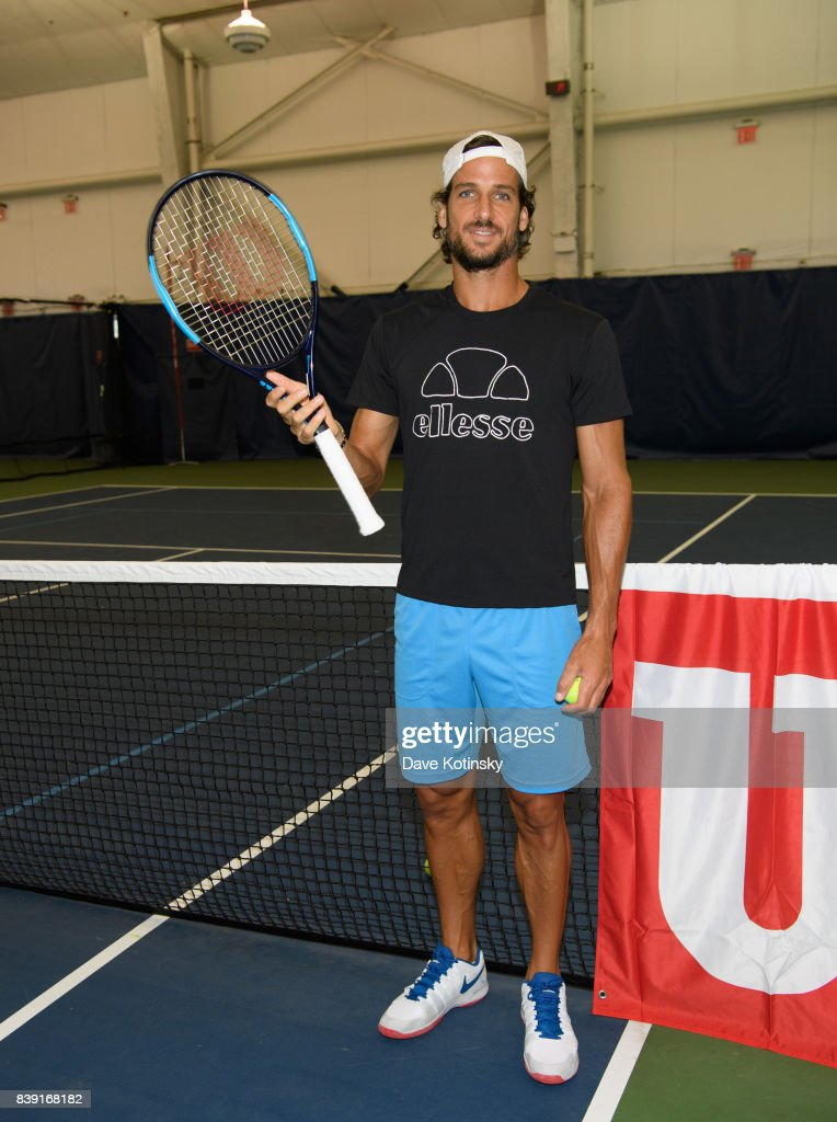 Feliciano Lopez surprises and join unsuspecting fans for A few games on court fans at Arthur Ashe Stadium on August 25, 2017 in New York City.