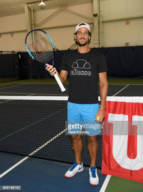Feliciano Lopez surprises and join unsuspecting fans for A few games on court fans at Arthur Ashe Stadium on August 25 2017 in New York City