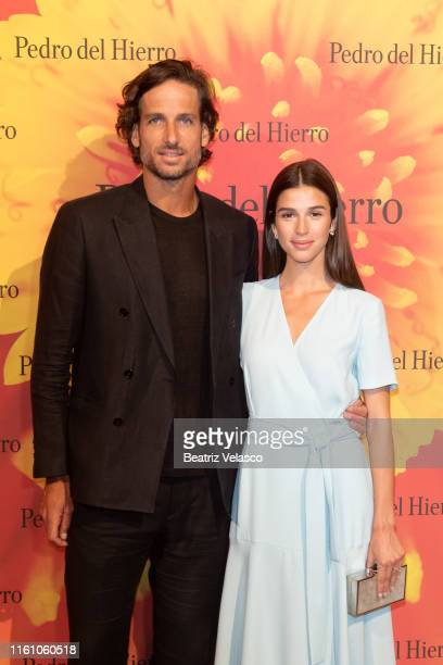 Feliciano López and Sandra Gago attend Pedro del Hierro fashion show during the Mercedes Benz Fashion Week Spring/Summer 2020 on July 09 2019 in...