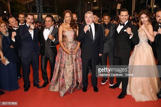 Felicidad guests former boxer Roberto Duran Grace Hightower Roberrt De Niro Usher Edgar Martinez and Ana de Armas attend the Hands Of Stone Premiere...
