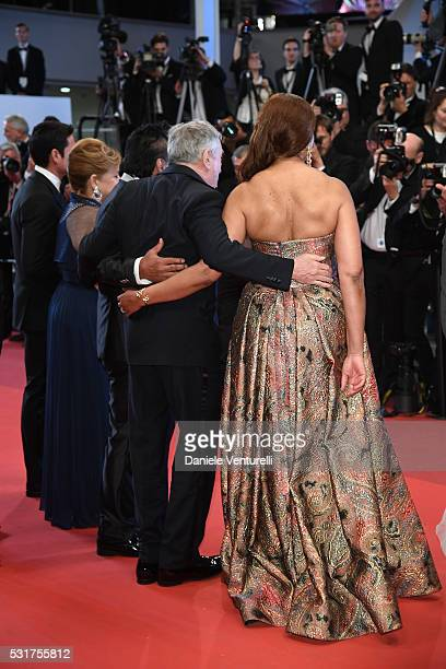 Felicidad Roberto Duran Robert De Niro and Grace Hightower attends the Hands Of Stone premiere during the 69th annual Cannes Film Festival at the...