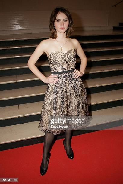 Felicirty Jones attends the UK Premiere of 'Cheri' held at The Cine lumiere Institut Francais South Kensington on May 06 2009 in London England