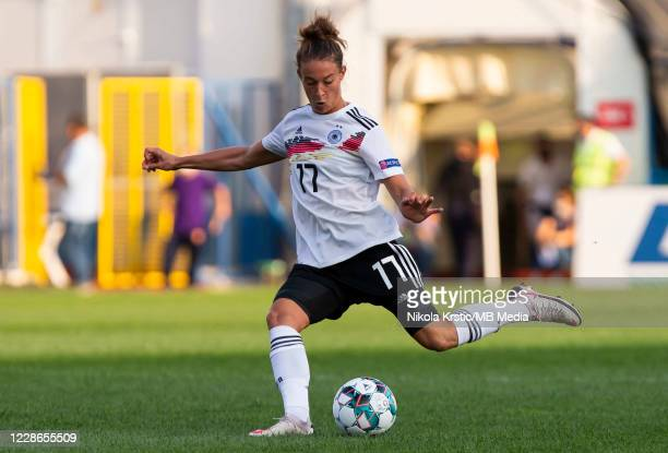 Felicitas Rauch of Germany in action during the UEFA Women's EURO 2022 Qualifier match between Montenegro and Germany at Pod Goricom on September 22...