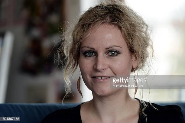 FONSEGRIVES Felicitas Rohrer a German woman who is suing German pharmaceuticals giant Bayer poses during an interview with an AFP journalist at her...