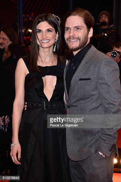 Felicitas Rombold and Daniel Bruehl attend the 'Alone in Berlin' premiere during the 66th Berlinale International Film Festival Berlin at Berlinale...