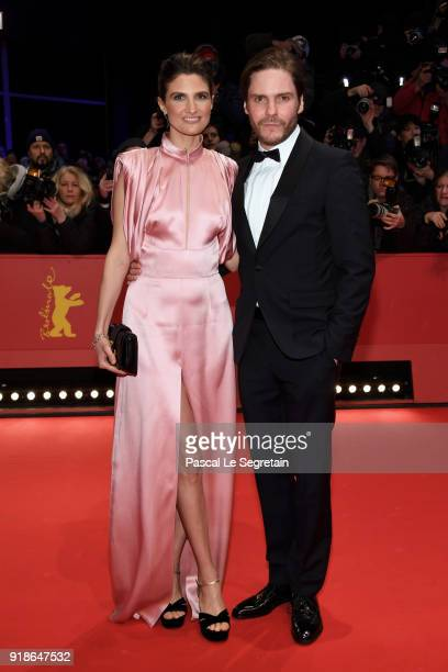 Felicitas Rombold and Daniel Bruehl attend the Opening Ceremony 'Isle of Dogs' premiere during the 68th Berlinale International Film Festival Berlin...