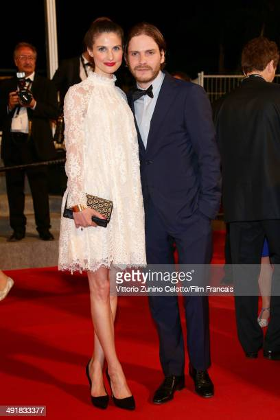 Felicitas Rombold and Daniel Bruehl attend the 'The Salvation' Premiere at the 67th Annual Cannes Film Festival on May 17 2014 in Cannes France