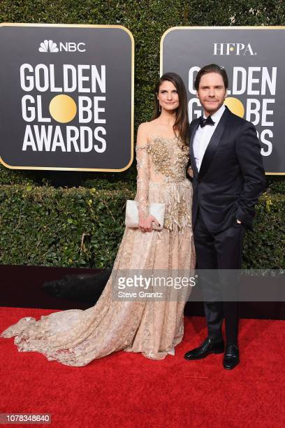 Felicitas Rombold and Daniel Bruhl attend the 76th Annual Golden Globe Awards at The Beverly Hilton Hotel on January 6 2019 in Beverly Hills...
