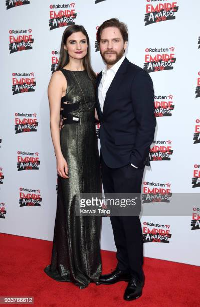 Felicitas Rombold and Daniel Bruhl attend the Rakuten TV EMPIRE Awards 2018 at The Roundhouse on March 18 2018 in London England