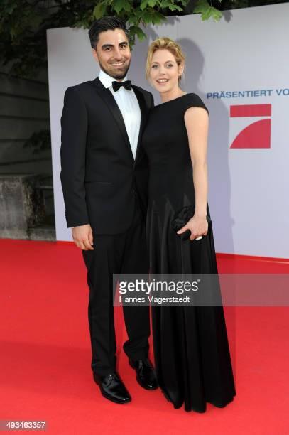Felicitas Woll and Emrah Karacok attend the 'Bayerischer Fernsehpreis 2014' at Prinzregententheater on May 23 2014 in Munich Germany