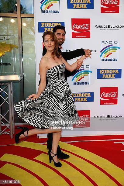 Felicitas Woll and her boyfriend Emrah Karacok attend the Radio Regenbogen Award 2014 on April 11 2014 in Rust Germany