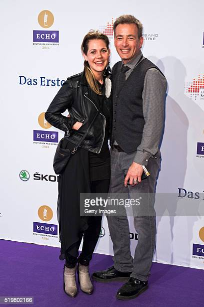 Felicitas Woll and Jan Sosniok attend the Echo Award 2016 on April 7 2016 in Berlin Germany