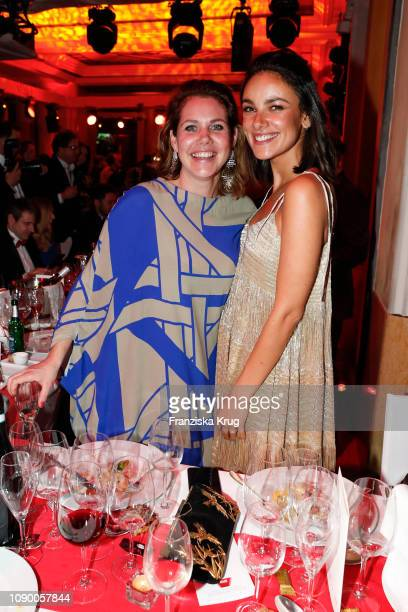Felicitas Woll and Janina Uhse during the 46th German Film Ball at Hotel Bayerischer Hof on January 26 2019 in Munich Germany