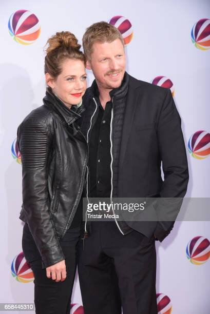 Felicitas Woll and Martin Gruber attend the photo call for the television film 'Nackt Das Netz vergisst nie' at Astor Film Lounge on March 27 2017 in...