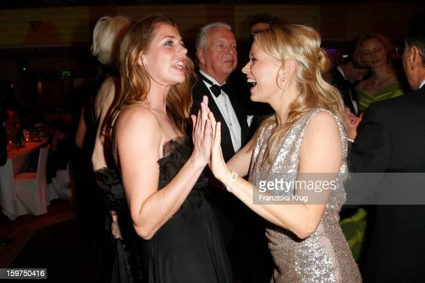 Felicitas Woll and Nova Meierhenrich attend the Germany Filmball 2013 on January 19 2013 in Munich Germany