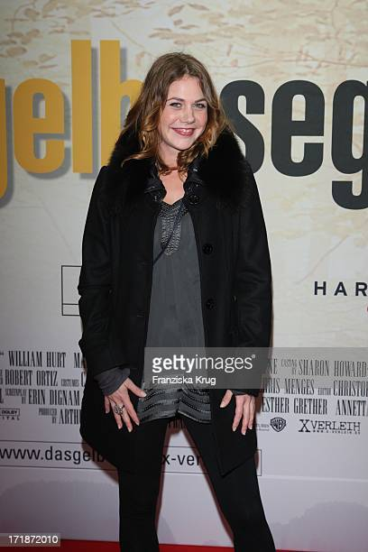 Felicitas Woll at the Premiere Of The Film 'The Yellow Handkerchief' in Cinemax on Potsdamer Platz in Berlin