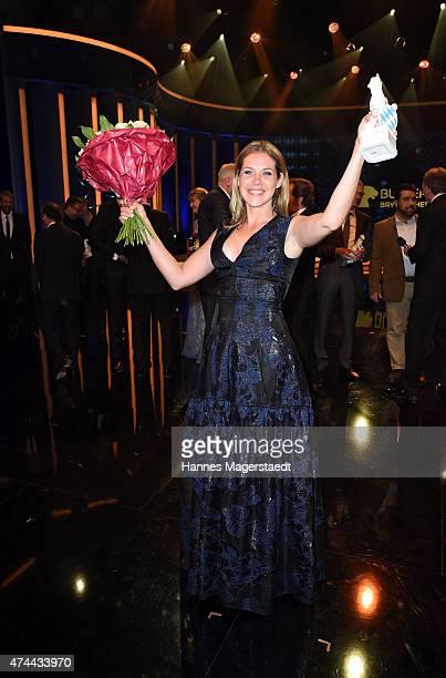 Felicitas Woll attends the Bayerischer Fernsehpreis 2015 at Prinzregententheater on May 22 2015 in Munich Germany