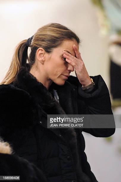 Felicite Herzog, the daughter of French climber Maurice Herzog is pictured during her father's funeral ceremony, on December 20, 2012 at the...