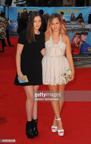 Felicite Tomlinson and Becca Lammin attend the UK Premiere of What If at Odeon West End on August 12 2014 in London England