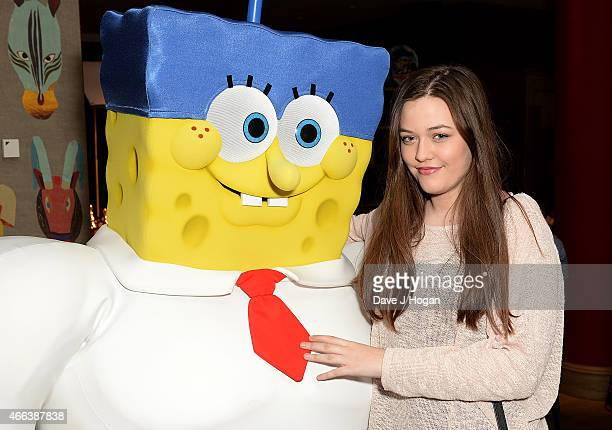 Felicite Tomlinson attends The Spongebob Movie Sponge Out of Water UK Gala screening on March 15 2015 in London England