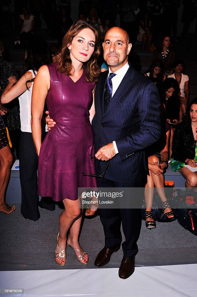 Felicity Blunt and actor Stanley Tucci attend the Nanette Lepore Spring 2013 fashion show during Mercedes-Benz Fashion Week at The Stage Lincoln Center on September 12, 2012 in New York City.