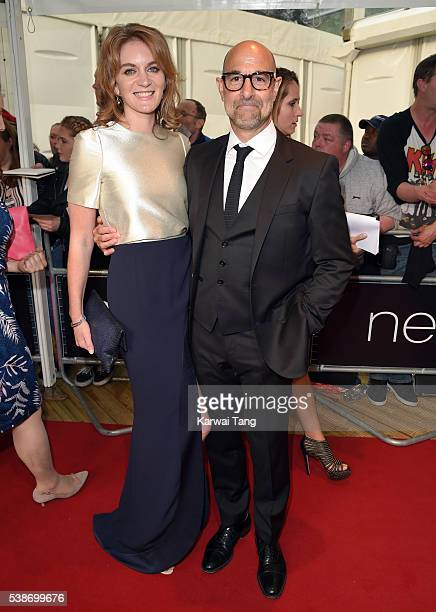 Felicity Blunt and Stanley Tucci arrive for the Glamour Women Of The Year Awards in Berkeley Square Gardens on June 7 2016 in London United Kingdom