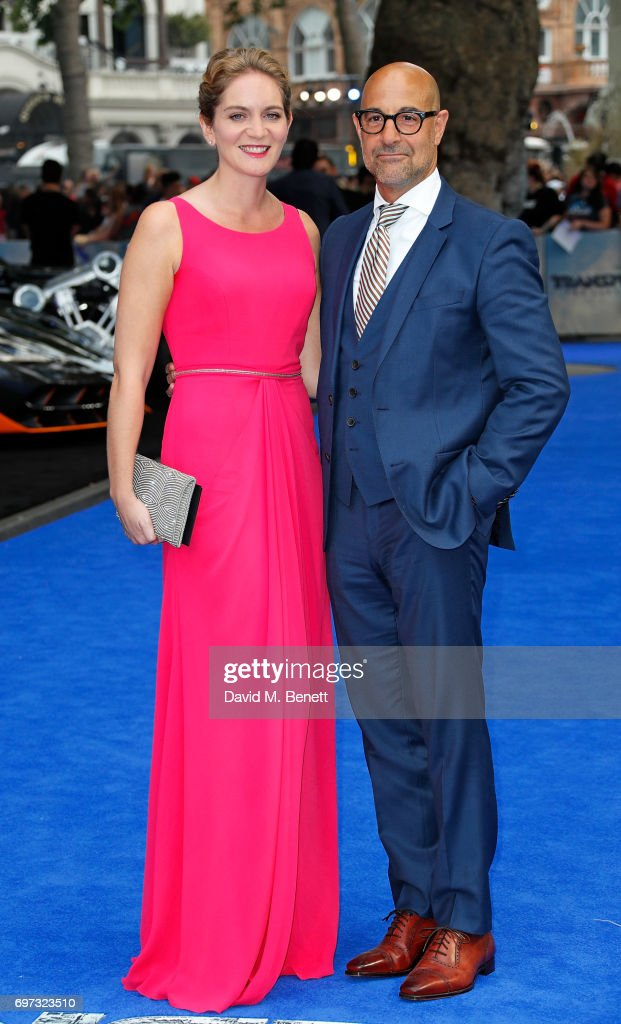 Felicity Blunt and Stanley Tucci attend the Global Premiere of 'Transformers: The Last Knight' at Cineworld Leicester Square on June 18, 2017 in London, England.