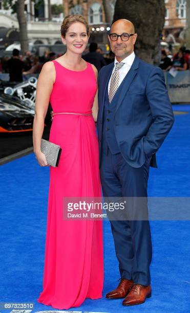 Felicity Blunt and Stanley Tucci attend the Global Premiere of Transformers The Last Knight at Cineworld Leicester Square on June 18 2017 in London...