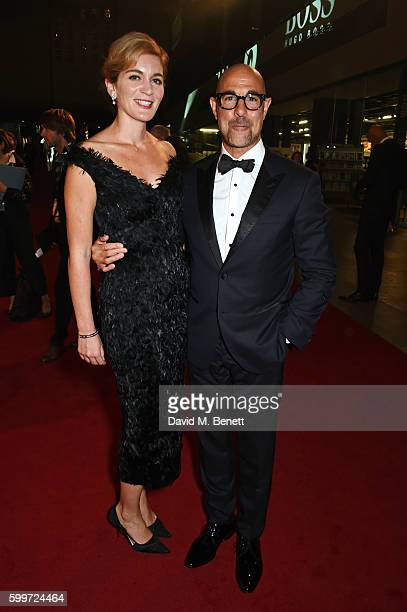 Felicity Blunt and Stanley Tucci attend the GQ Men Of The Year Awards 2016 at the Tate Modern on September 6 2016 in London England