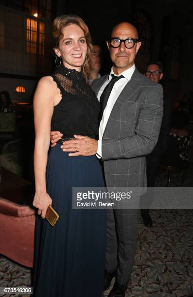 Felicity Blunt and Stanley Tucci attend the launch of The Ned London on April 26 2017 in London England